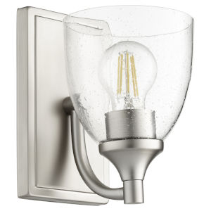 Enclave Satin Nickel with Clear Six-Inch One-Light Wall Mount