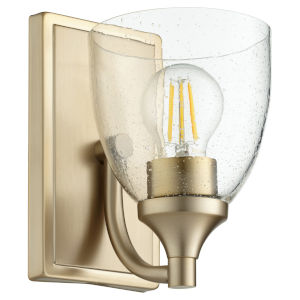 Enclave Aged Brass with Clear Six-Inch One-Light Wall Mount