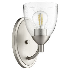 Barkley Satin Nickel with Clear Six-Inch One-Light Wall Mount