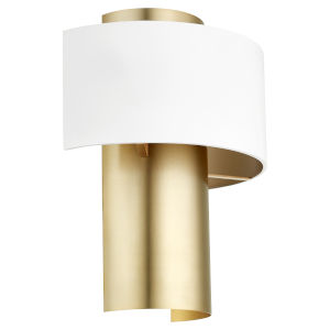 Studio White Aged Brass 12-Inch One-Light Wall Sconce
