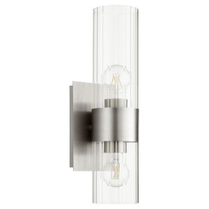 Satin Nickel Two-Light Wall Sconce