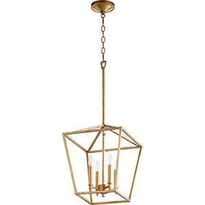 Gabriel Gold Leaf Four-Light Pendant