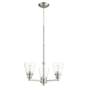 Dunbar Satin Nickel Three-Light Chandelier