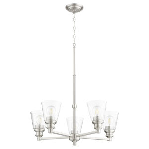 Dunbar Satin Nickel Five-Light Chandelier