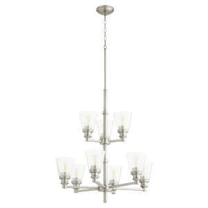 Dunbar Satin Nickel Nine-Light Chandelier