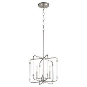Optic Satin Nickel 13-Inch Three-Light Pendant