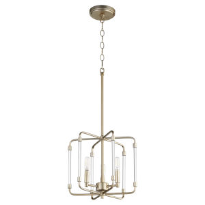 Optic Aged Brass 13-Inch Three-Light Pendant