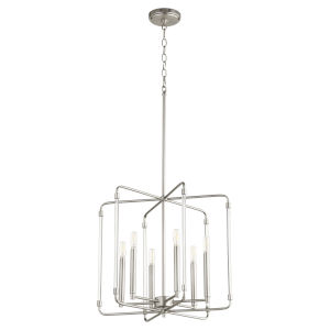 Optic Satin Nickel 20-Inch Six-Light Pendant