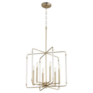 Optic Aged Brass 20-Inch Six-Light Pendant