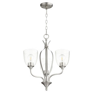 Jardin Satin Nickel with Clear 20-Inch Three-Light Chandelier