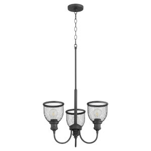 Omni Black 19-Inch Three-Light Chandelier