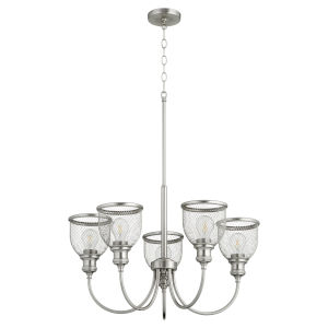 Omni Satin Nickel 26-Inch Five-Light Chandelier