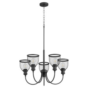 Omni Black 26-Inch Five-Light Chandelier