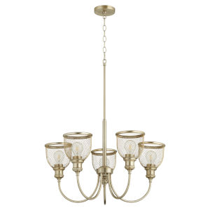 Omni Aged Brass 26-Inch Five-Light Chandelier