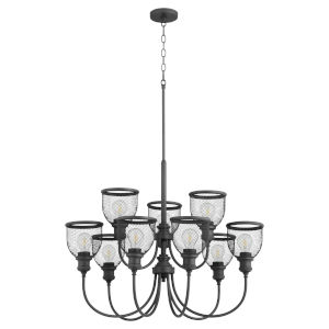 Omni Black 32-Inch Nine-Light Chandelier