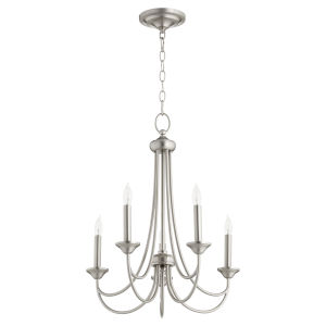 Brooks Satin Nickel 22-Inch Five-Light Chandelier