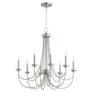 Brooks Satin Nickel 29-Inch Eight-Light Chandelier