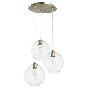Numen Aged Brass Three-Light Pendant