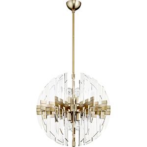 Zion Aged Brass Six-Light Pendant