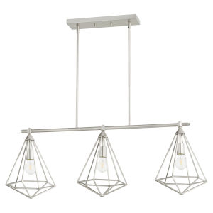 Bennett Satin Nickel 11-Inch Three-Light Island Pendant