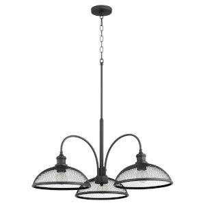 Omni Black 32-Inch Three-Light Nook Pendant