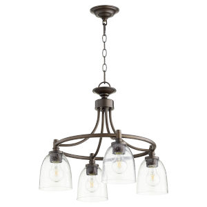 Rossington Oiled Bronze with Clear 21-Inch Four-Light Nook Pendant