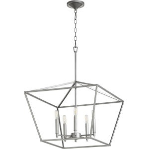 Gabriel Classic Nickel Five-Light Pendant