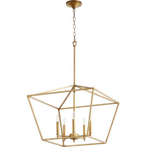 Gabriel Gold Leaf Five-Light Pendant