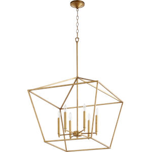Gabriel Gold Leaf Six-Light Pendant