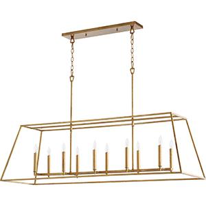 Gabriel Gold Leaf 10-Light Pendant