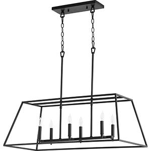 Gabriel Black 15-Inch Six-Light Pendant
