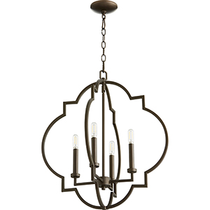 Dublin Oiled Bronze 21-Inch Four-Light Pendant