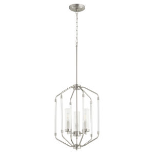 Citadel Satin Nickel 14-Inch Three-Light Entry Pendant