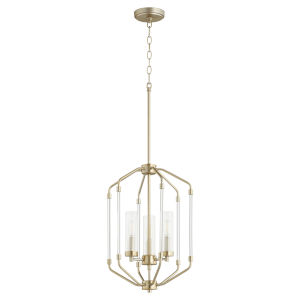 Citadel Aged Brass 14-Inch Three-Light Entry Pendant