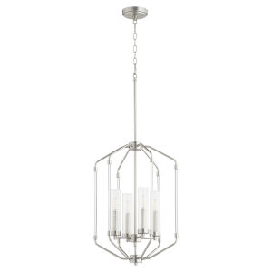 Citadel Satin Nickel 16-Inch Four-Light Entry Pendant