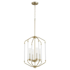 Citadel Aged Brass 16-Inch Four-Light Entry Pendant