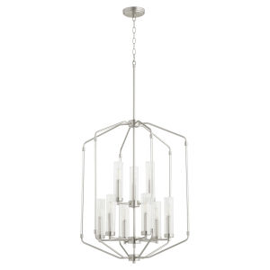 Citadel Satin Nickel 24-Inch Nine-Light Entry Pendant