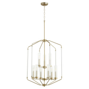 Citadel Aged Brass 24-Inch Nine-Light Entry Pendant