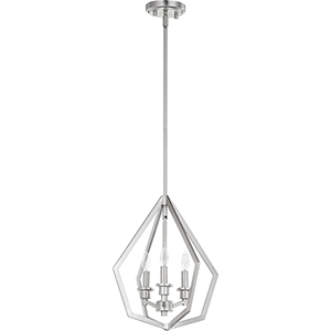 Knox Satin Nickel Three-Light Pendant