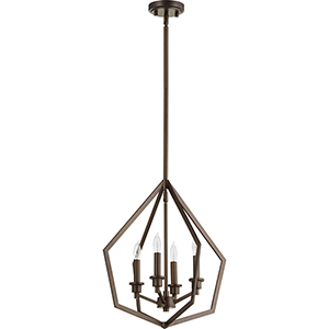Knox Oiled Bronze Four-Light Pendant