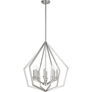 Knox Satin Nickel Eight-Light Pendant