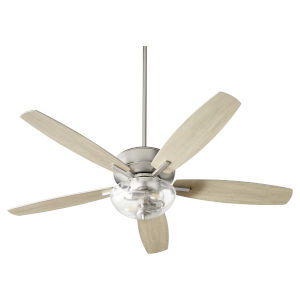 Breeze Satin Nickel Two-Light 52-Inch Ceiling Fan