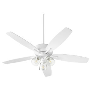 Breeze Studio White Three-Light 52-Inch Ceiling Fan