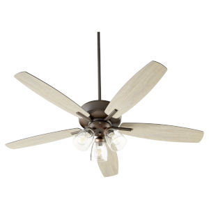 Breeze Oil Bronze Three-Light 52-Inch Ceiling Fan