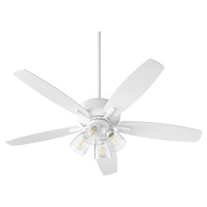 Breeze Studio White Four-Light 52-Inch Ceiling Fan