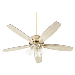 Breeze Aged Brass Four-Light 52-Inch Ceiling Fan