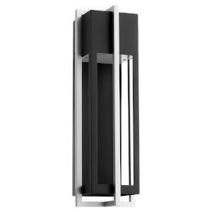 Al Fresco Noir Brushed Aluminum Six-Inch LED Outdoor Wall Sconce