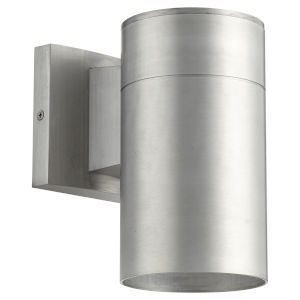 Cylinder Brushed Aluminum One-Light 4-Inch Outdoor Wall Mount