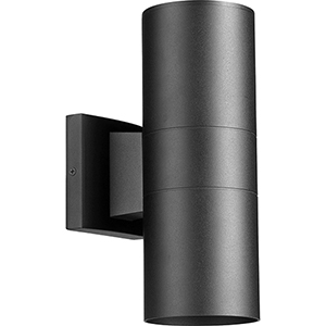 Cylinder Black Two-Light Wall Sconce