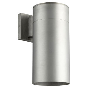Cylinder Brushed Aluminum One-Light 6-Inch Outdoor Wall Mount